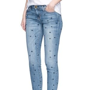 Current/Elliott Stiletto Star Print Skinny Jeans